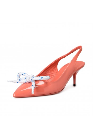 """Burberry Women's """"FINK"""" Pink Patent Leather Slingback Pumps Shoes"""
