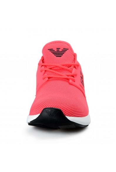 Emporio Armani EA7 Men's Bright Pink Fashion Sneakers Shoes: Picture 2