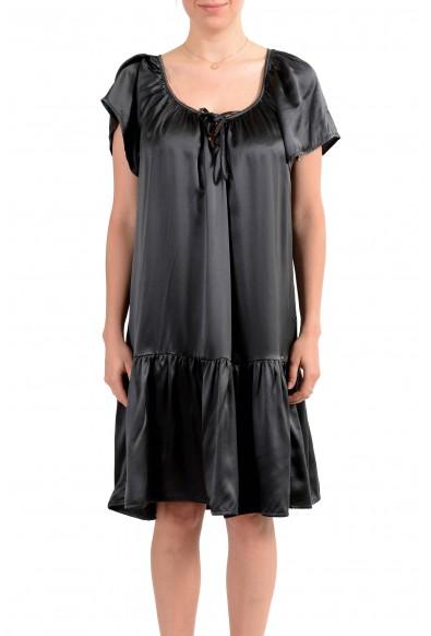 John Galliano Women's Gray 100% Silk Flare Dress