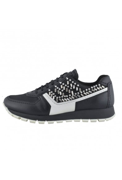 Prada Leather Beads Decorated Fashion Sneakers Shoes: Picture 2