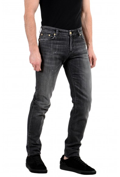 Versace Versus Men's Gray Stretch Skinny Jeans: Picture 2
