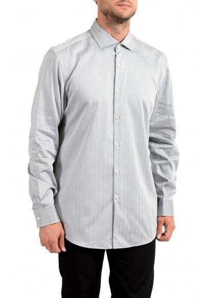 "Hugo Boss Men's ""C-Jason"" Slim Fit Striped Long Sleeve Dress Shirt"