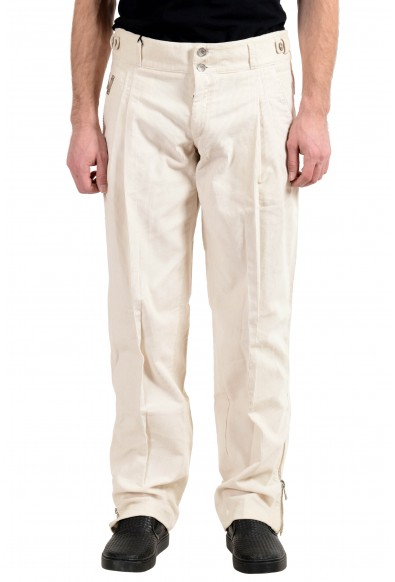 Dolce&Gabbana Men's Off White Pleated Corduroy Casual Pants
