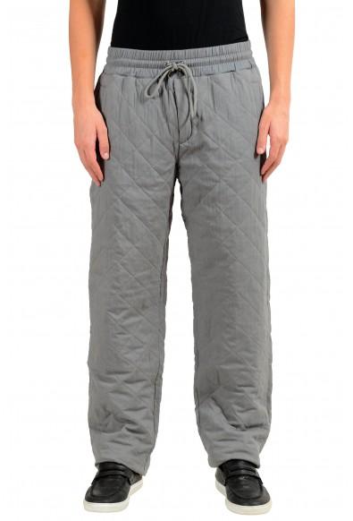 Dolce & Gabbana Men's Silk Thermal Padded Gray Casual Pants