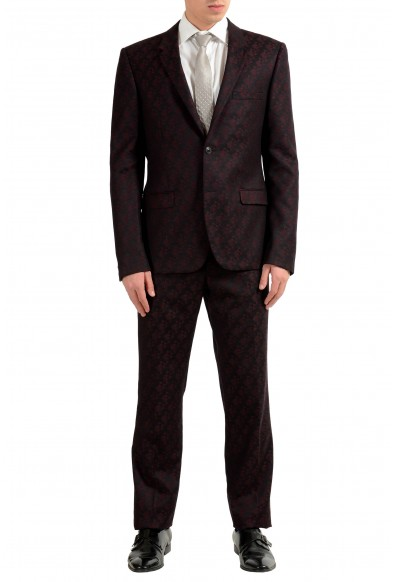 Versace Men's 100% Wool Two Tones Two Button Suit