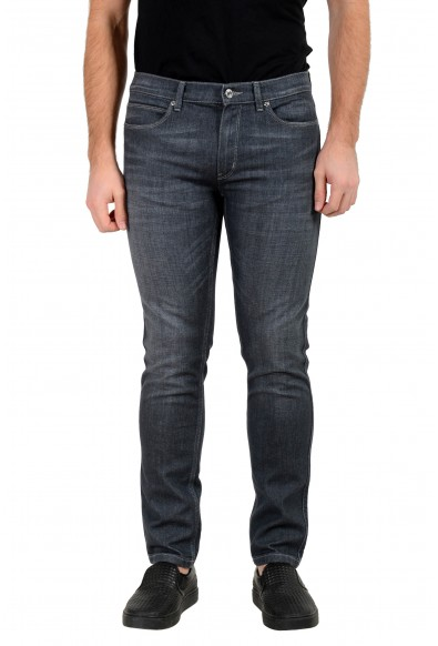 "Hugo Boss Men's ""Hugo 734"" Skinny Fit Gray Wash Stretch Jeans"
