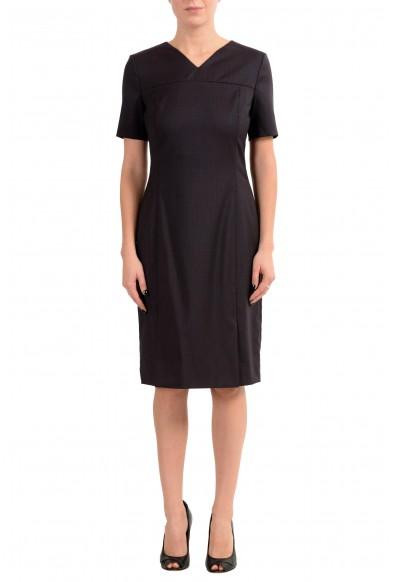 "Hugo Boss ""Denisia"" Women's 100% Wool Short Sleeve Sheath Dress"