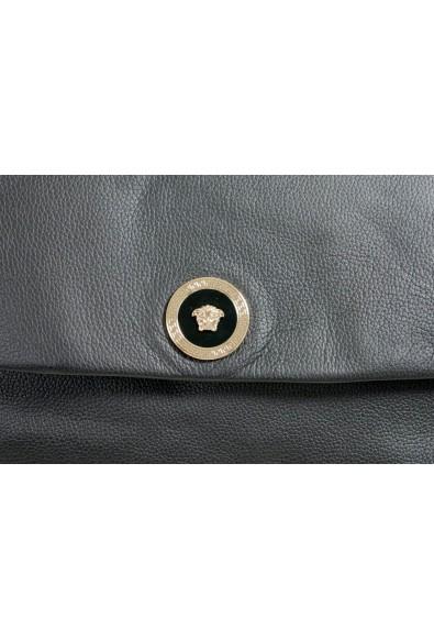 Versace 100% Leather Black Chain Strap Shoulder Bag: Picture 2