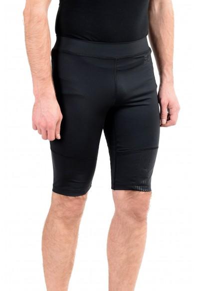 """Emporio Armani EA7 """"Tech"""" Men's Black Stretch Bike Shorts: Picture 2"""