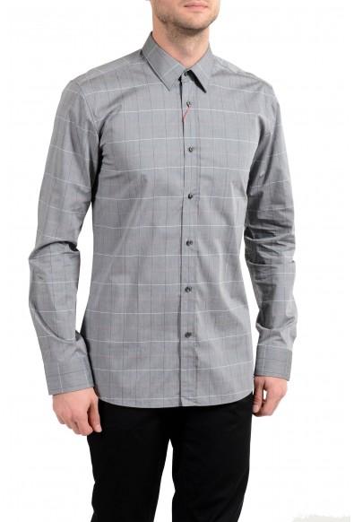 "Hugo Boss ""Elisha01"" Men's Extra Slim Plaid Long Sleeve Dress Shirt"