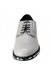 Jimmy Choo Men's Leather Alaric Cloud Gray Lace Up Oxfords Shoes: Picture 4