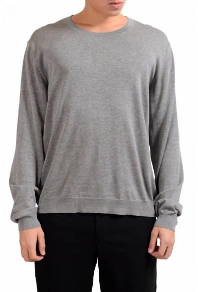 Malo Men's Gray Crewneck Light Pullover Sweater