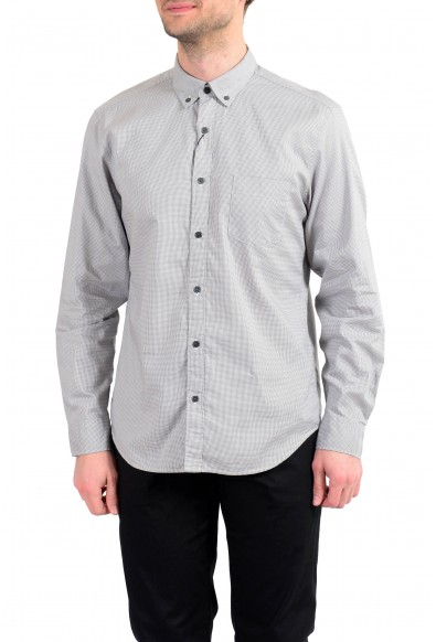 """Burberry Men's """"Fred"""" Houndstooth Long Sleeve Button Down Shirt"""