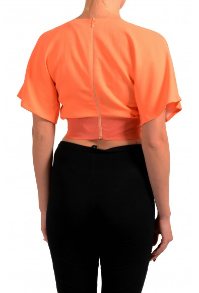 Just Cavalli Women's Orange Cropped Blouse Top : Picture 2