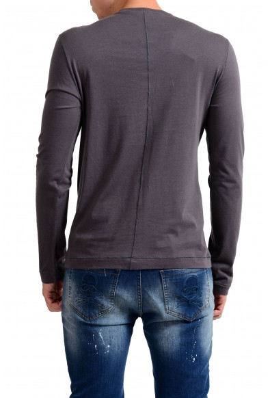 Exte Men's Gray Graphic Print Crewneck Long Sleeve T-Shirt : Picture 2