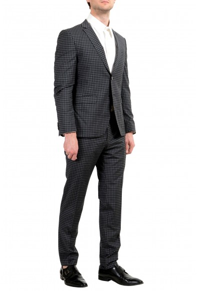 "Hugo Boss ""Reymond/Wenten"" Men's 100% Wool Plaid Extra Slim Two Button Suit: Picture 2"