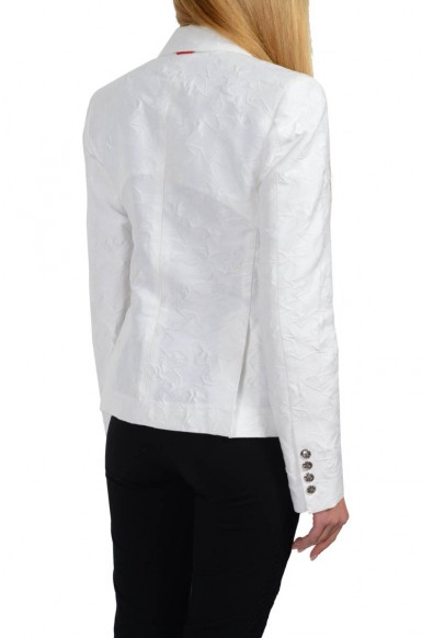 """Moncler """"Giacca"""" Gamme Bleu Silk White Three Buttons Basic Jacket: Picture 2"""