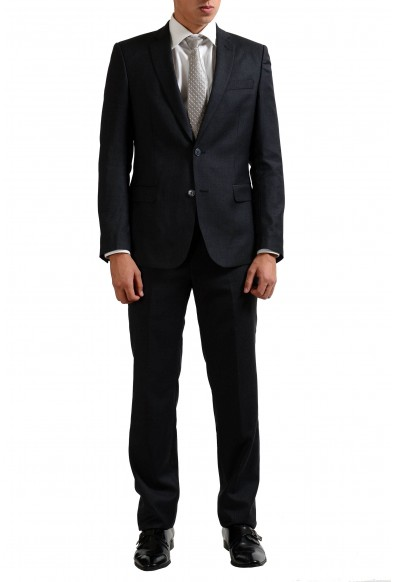 Versace Collection Wool Cashmere Gray Two Button Men's Suit