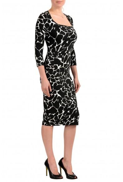 Just Cavalli Women's Black & White Bodycon Stretch Dress: Picture 2