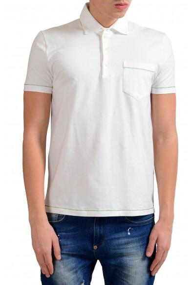 Malo Men's Stertch White Short Sleeve Polo Shirt