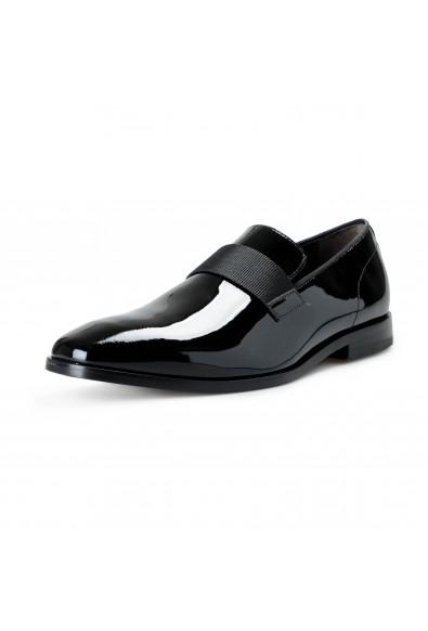 "Hugo Boss Men's ""Highline_Slon_pa2"" Black Patent Leather Loafers Slip On Shoes"