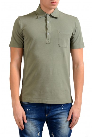 Malo Men's Olive Green Short Sleeve Polo Shirt