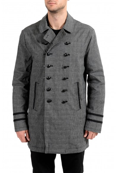 """John Varvatos Star USA """"Luxe"""" Men's Linen Double Breasted Trench Coat"""