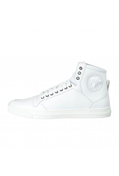 Versace Men's White Leather Medusa Hi Top Fashion Sneakers Shoes: Picture 2