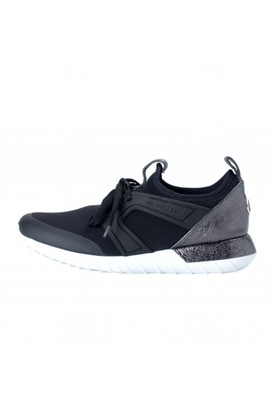 """Moncler Women's """"MELINE"""" Black Neoprene Leather Fashion Sneakers Shoes: Picture 2"""