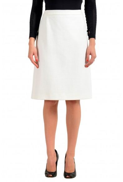 """Hugo Boss Women's """"Vilea"""" White Straight Pencil Skirt"""