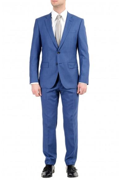 "Hugo Boss ""Huge6/Genius5"" Men's 100% Wool Slim Blue Two Button Suit"