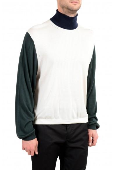 Burberry Men's Silk Cashmere Multi-Color Turtleneck Sweater: Picture 2