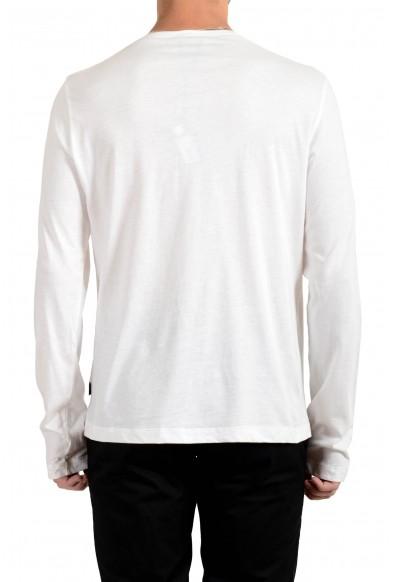 Just Cavalli Men's White Long Sleeve Crewneck T-Shirt : Picture 2