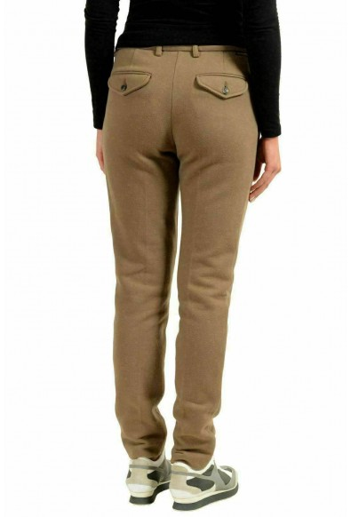 Moncler Women's Brown Skinny Pleated Casual Pants: Picture 2