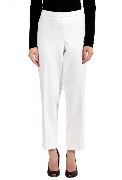"""Hugo Boss Women's """"Tiluna_SideZip"""" Off White Pants"""