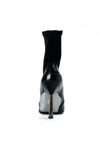 Versace Women's Black Layered Effect High Heels Ankle Boots Shoes: Picture 2