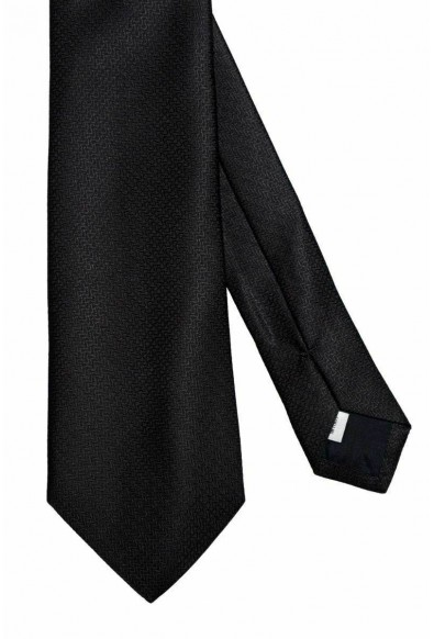 Valentino Men's 100% Silk Black Geometric Print Neck Tie