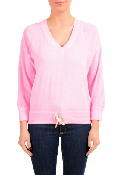 Dsquared2 Women's Pink V-Neck Sweatshirt