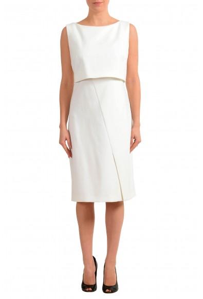 "Hugo Boss Women's ""Dantia"" White Sleeveless Pencil Dress"