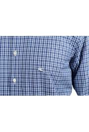 Etro Men's Blue & White Plaid Long Sleeve Dress Shirt : Picture 6