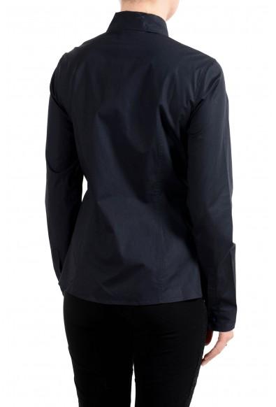 """Hugo Boss """"Banu13"""" Women's Blue Button Down Long Sleeve Shirt: Picture 2"""