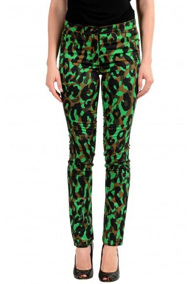 Versace Women's Multi-Color Animal Print Slim Leg Jeans