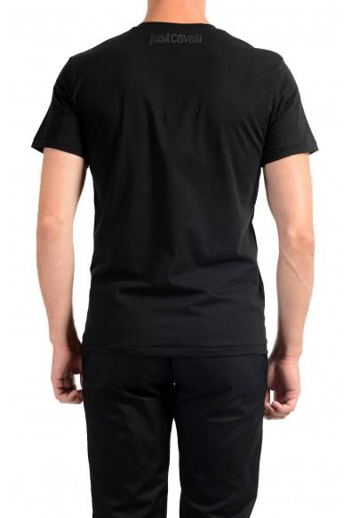 Just Cavalli Men's Black Graphic Print Crewneck T-Shirt: Picture 2