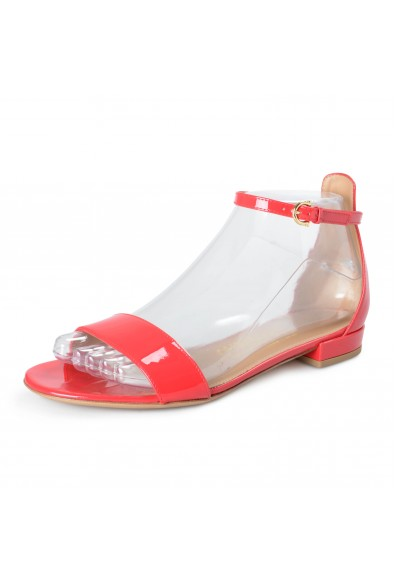 """Salvatore Ferragamo Women's """"Elgy"""" Red Patent Leather Heeled Sandals Shoes"""