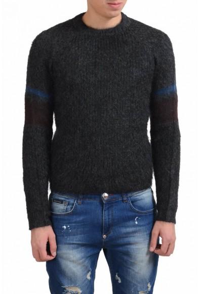 Prada Men's Mohair Wool Crewneck Gray Sweater