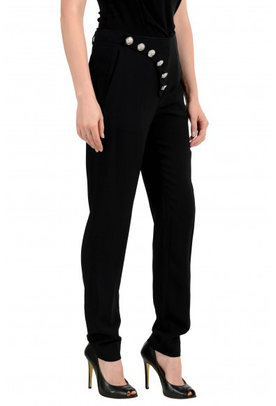 Versus by Versace Women's Black Button Decorated Pants: Picture 2