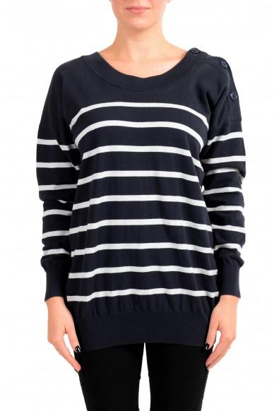 Maison Margiela MM6 Women's Striped Boatneck Sweater