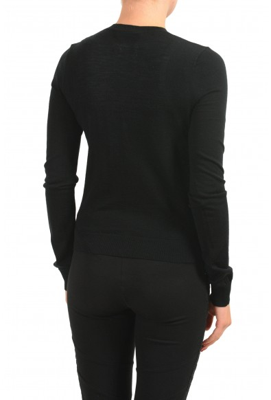 Dsquared2 Women's 100% Wool Black Light Cardigan Sweater: Picture 2