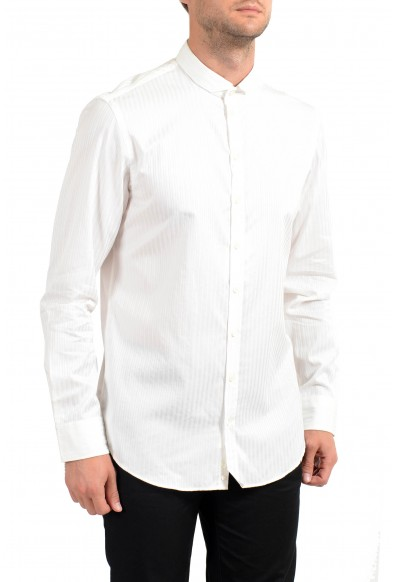 Armani Collezioni Men's White Long Sleeve Casual Shirt