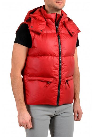 """Hugo Boss """"Dromus"""" Men's Full Zip Red Down Hooded Vest : Picture 2"""